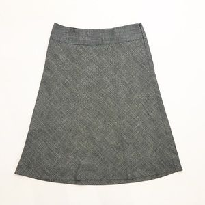 The Limited Gray Hatch A-Line Skirt (S)